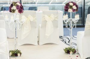 AJ Bell Stadium Wedding Floor Decorations
