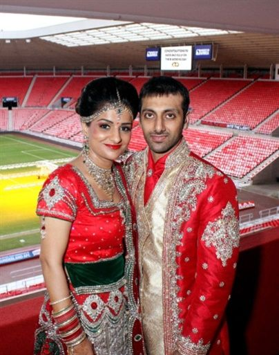 Stadium of Light Asian Wedding 1