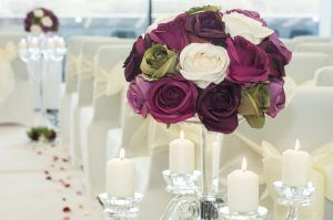 AJ Bell Stadium Wedding Flowers and Candles