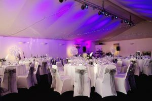 Bank of England Roehampton Marquee lighting