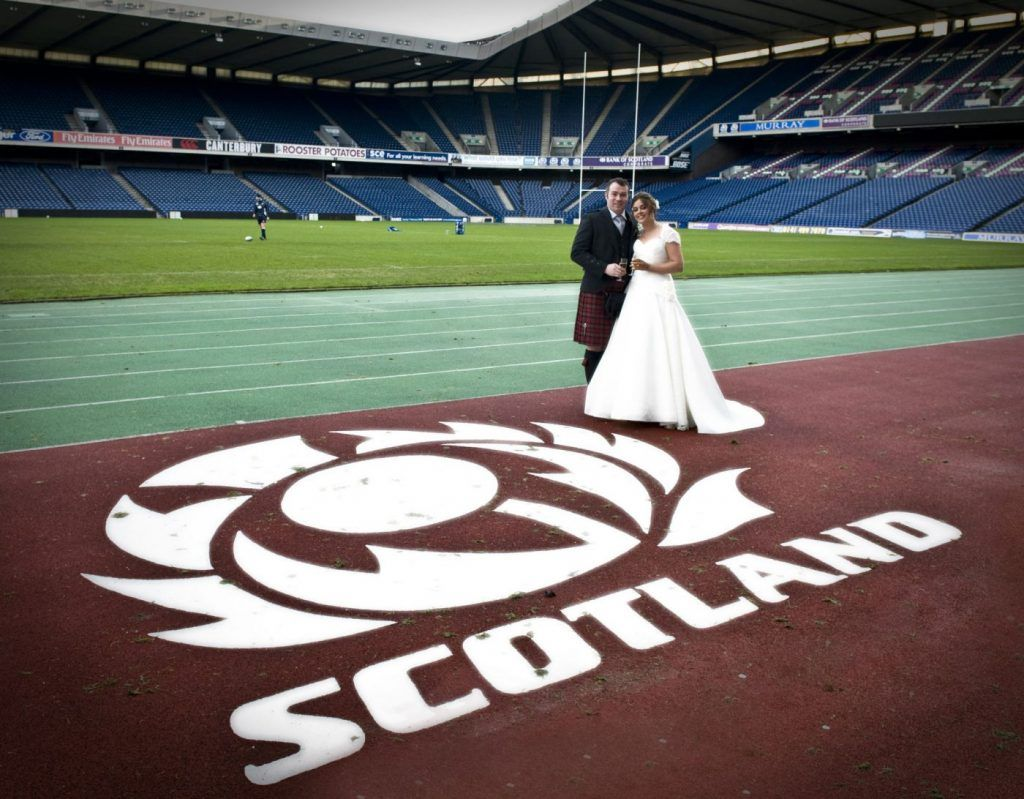 Murrayfield Stadium Wedding Pitch